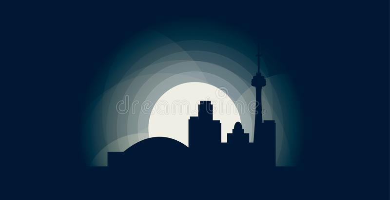 Illustration de logo de vecteur de silhouette d'horizon de ville de Toronto illustration stock