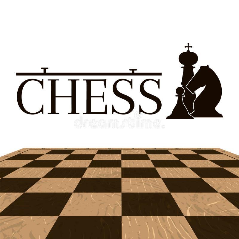 Illustration de logotype d'échecs illustration stock