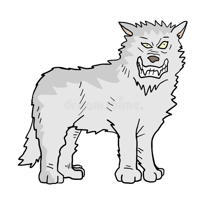 Illustration de loup blanc illustration de vecteur