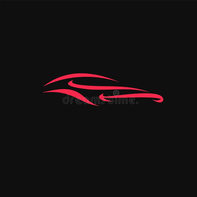 Illustration de luxe dynamique rouge de vecteur de voiture de sport illustration de vecteur