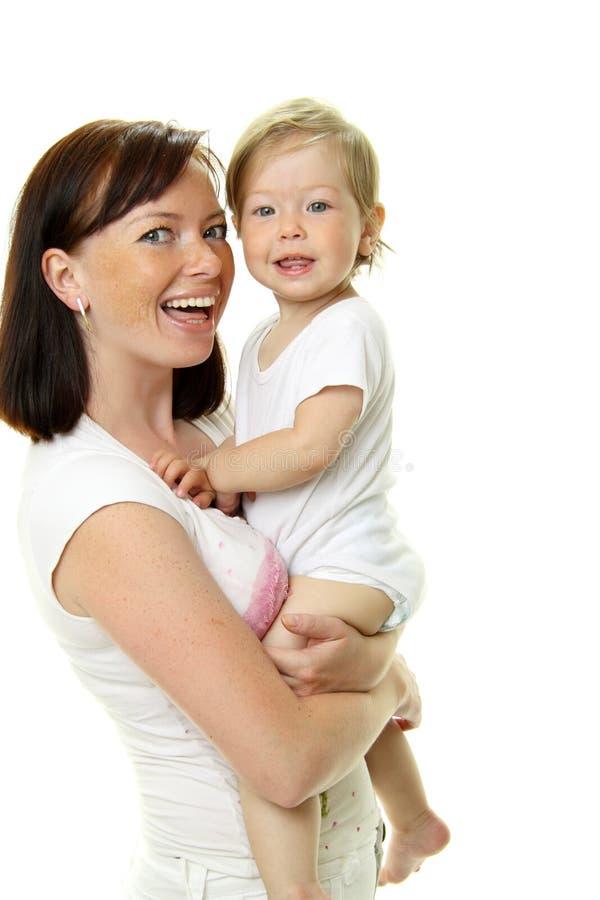 Illustration de mère heureuse avec la chéri photo libre de droits