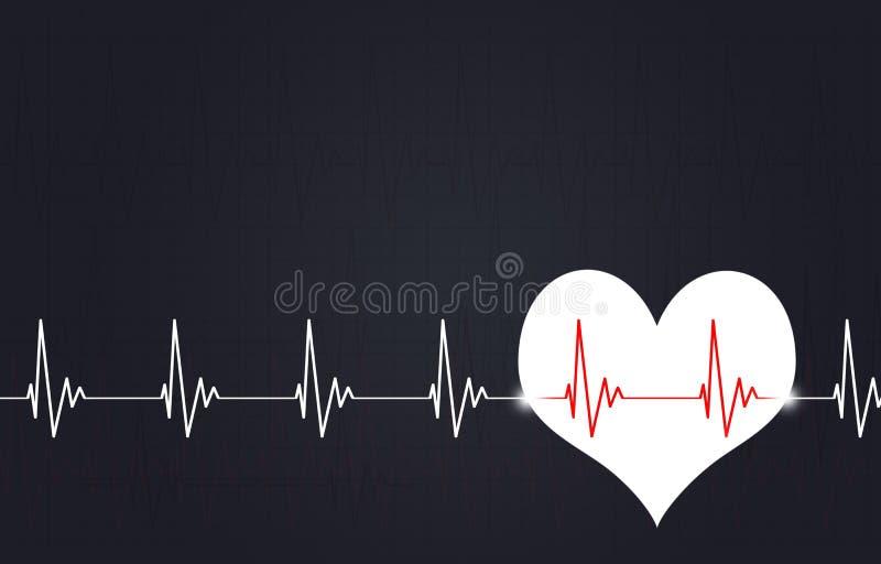 Illustration de médecine de battement de coeur illustration stock