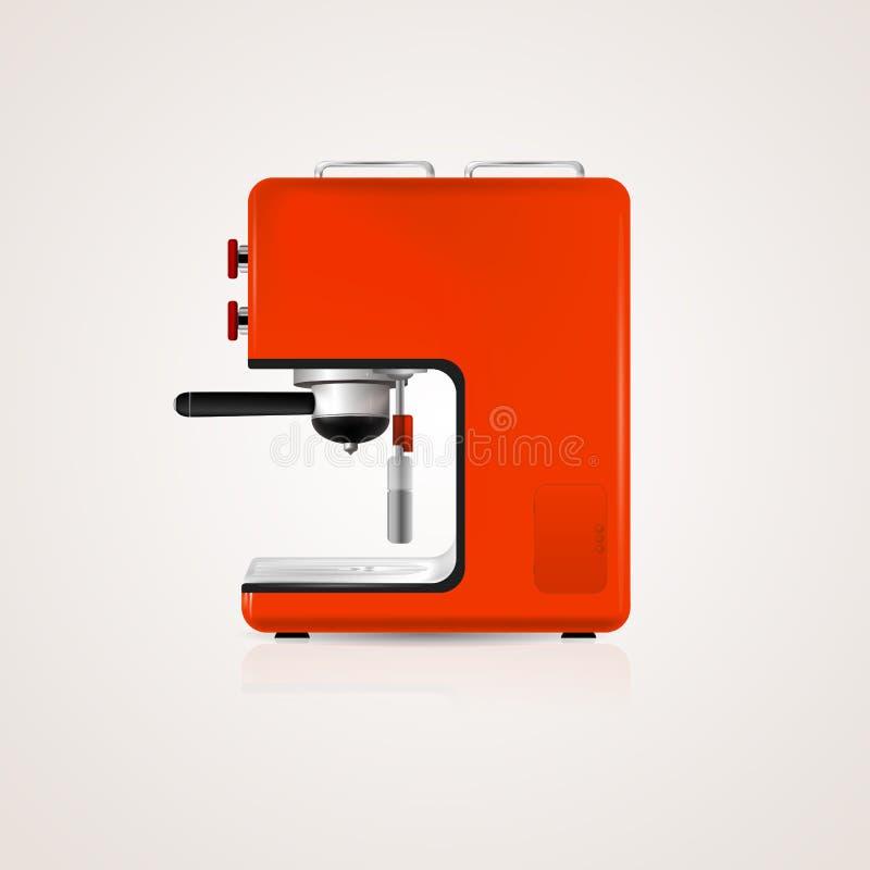 Illustration de machine rouge de café illustration libre de droits