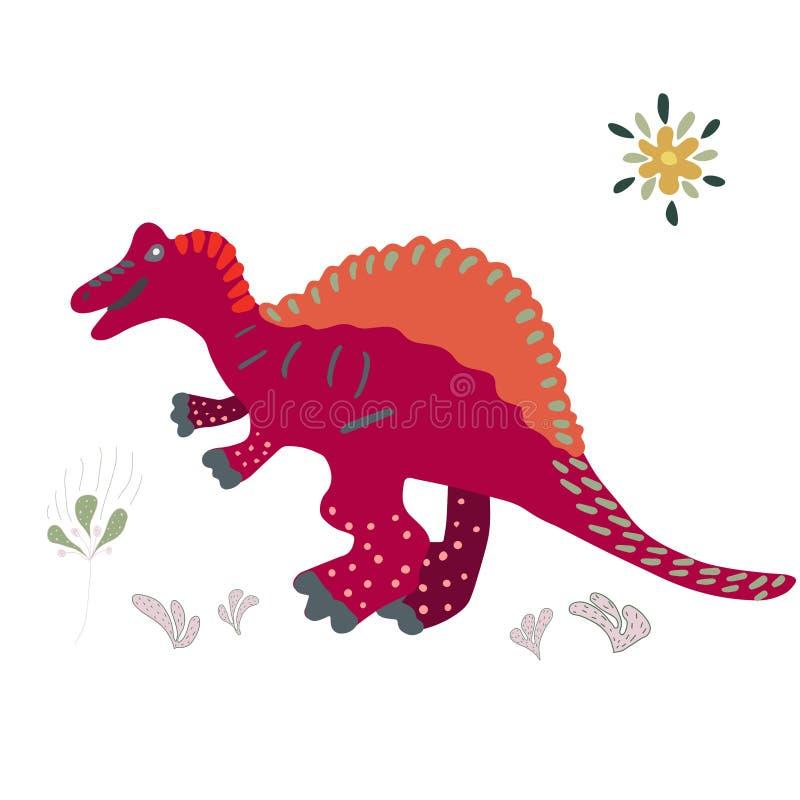 Illustration de main de Spinosaurus illustration libre de droits