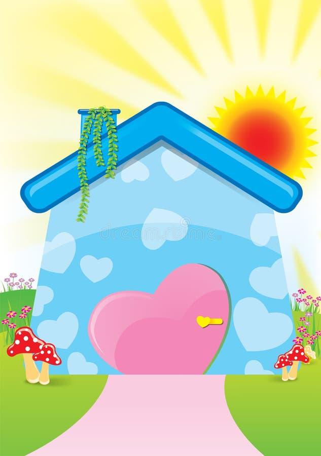 Illustration de maison douce images stock