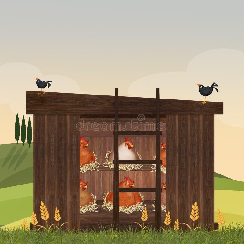 Illustration de maison de poule illustration de vecteur