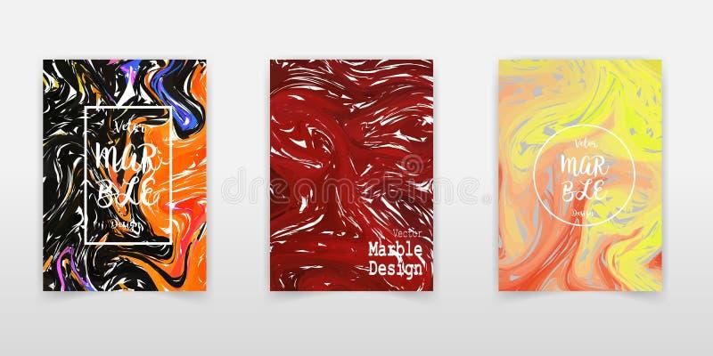 Illustration de marbrure tirée par la main d'encre de vecteur d'aquarelle réglée de texture, fond abstrait, copie d'aqua Calibre  illustration stock