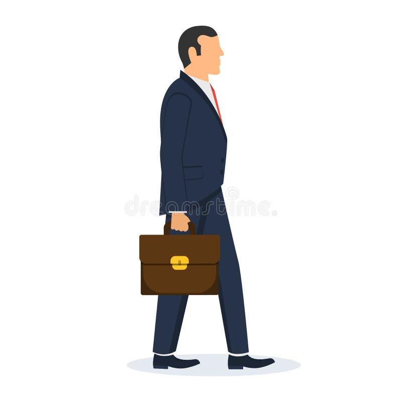 Illustration de marche de conception de vecteur d'homme d'affaires illustration stock