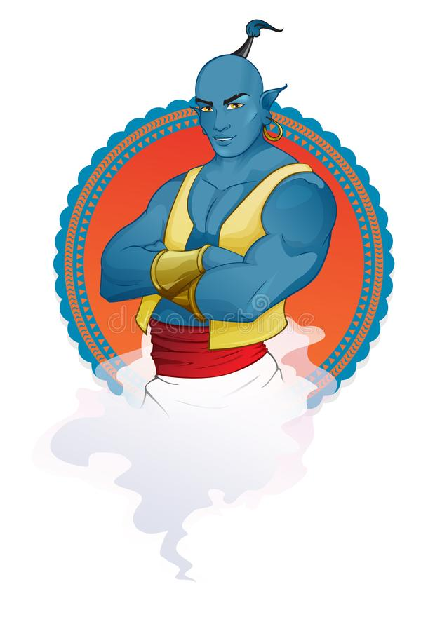 Illustration de mascotte de djinn images stock