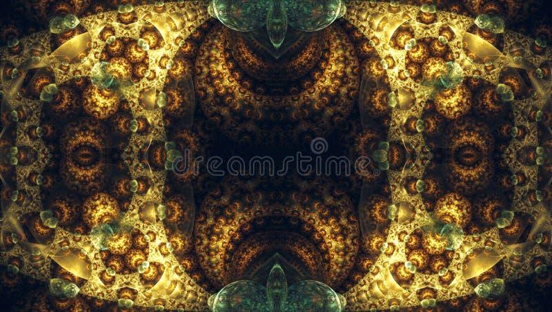 illustration de mise à feu abstraite artistique générée par ordinateur de modèles de la fractale 3d illustration libre de droits