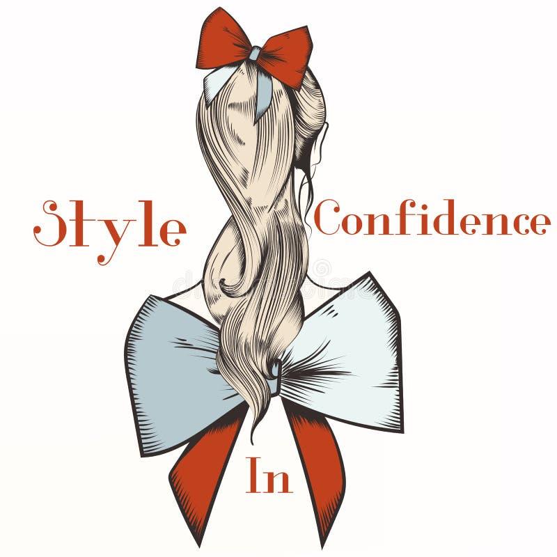 Illustration de mode avec la fille Style dans la confiance illustration libre de droits