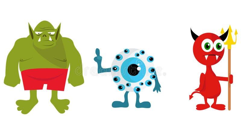 Illustration de monstres illustration de vecteur