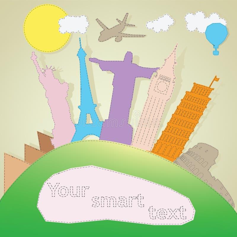 Illustration de monument de renommée mondiale illustration de vecteur