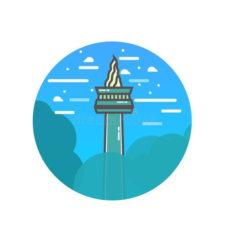 Illustration de monument national de Jakarta illustration libre de droits