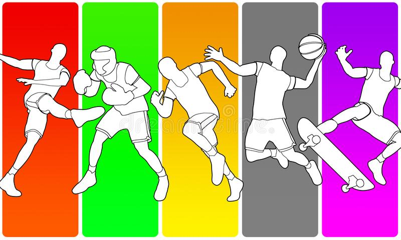 Illustration de Multisport illustration libre de droits