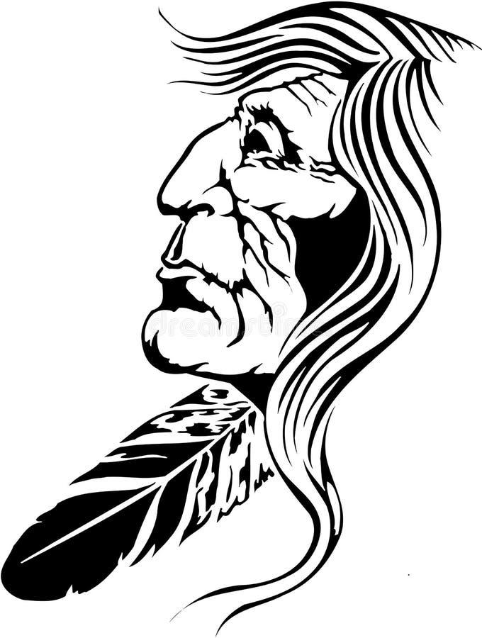Illustration de natif américain illustration de vecteur