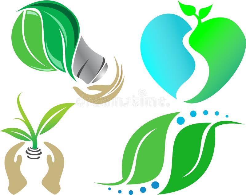 Illustration de nature d'écologie d'icône images libres de droits