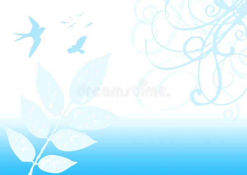 Illustration de nature d'oiseau image libre de droits