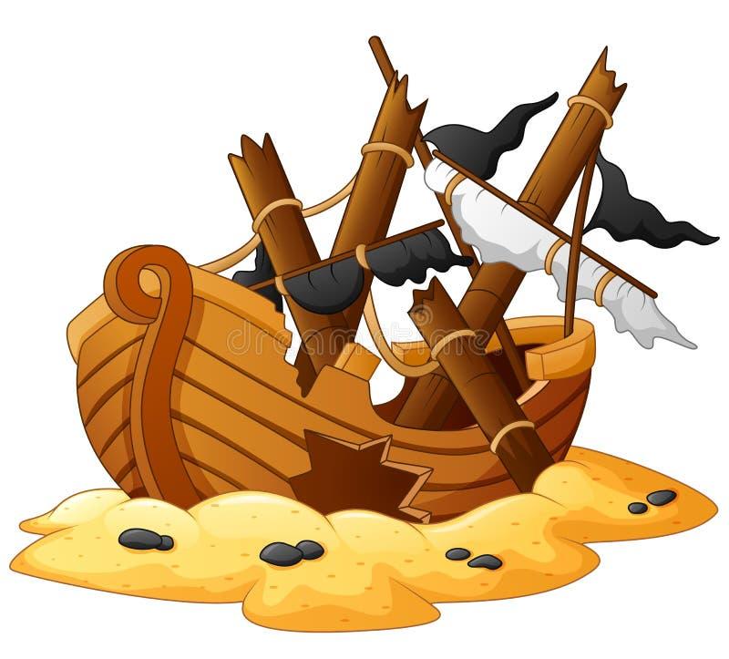 Illustration de naufrage illustration libre de droits