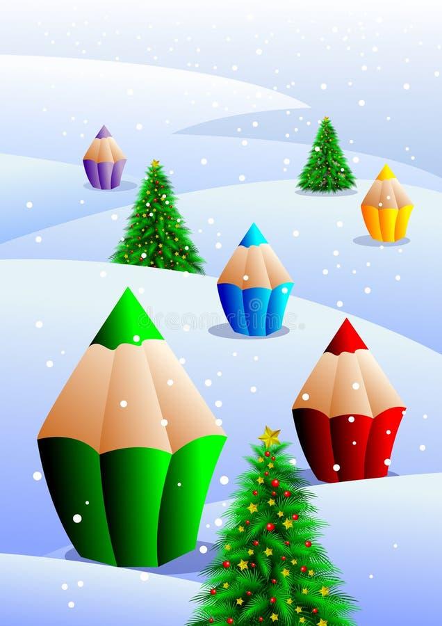 Illustration De Noël Images libres de droits