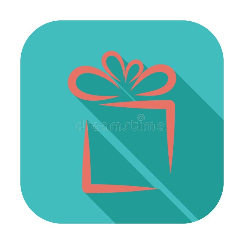 Illustration de Noël avec le cadre de cadeau illustration libre de droits