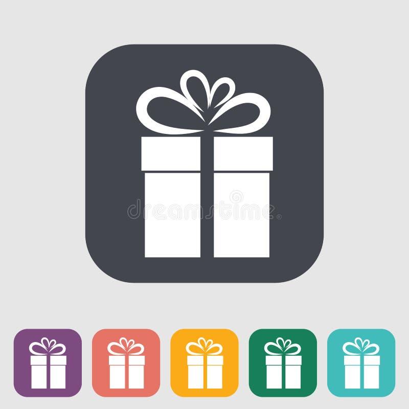 Illustration de Noël avec le cadre de cadeau illustration stock