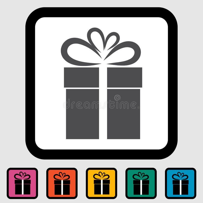 Illustration de Noël avec le cadre de cadeau 3. illustration stock