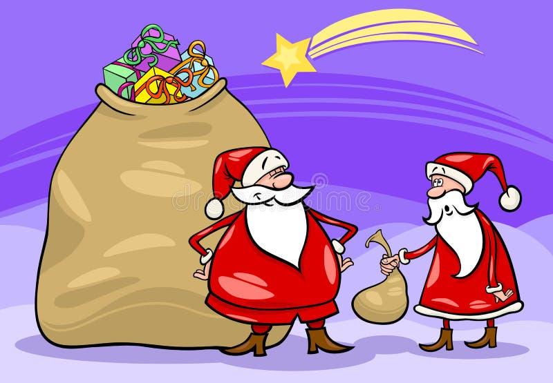 Illustration de Noël de dessin animé du père noël illustration libre de droits