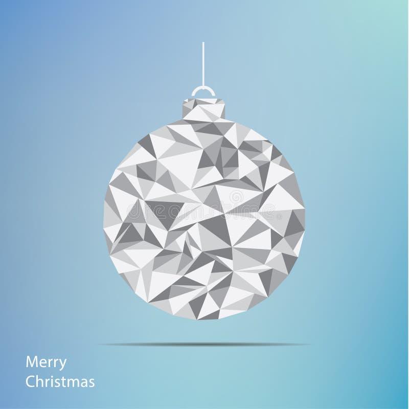 Illustration de Noël de vecteur Arbre de Noël de fractale Ba carré illustration libre de droits
