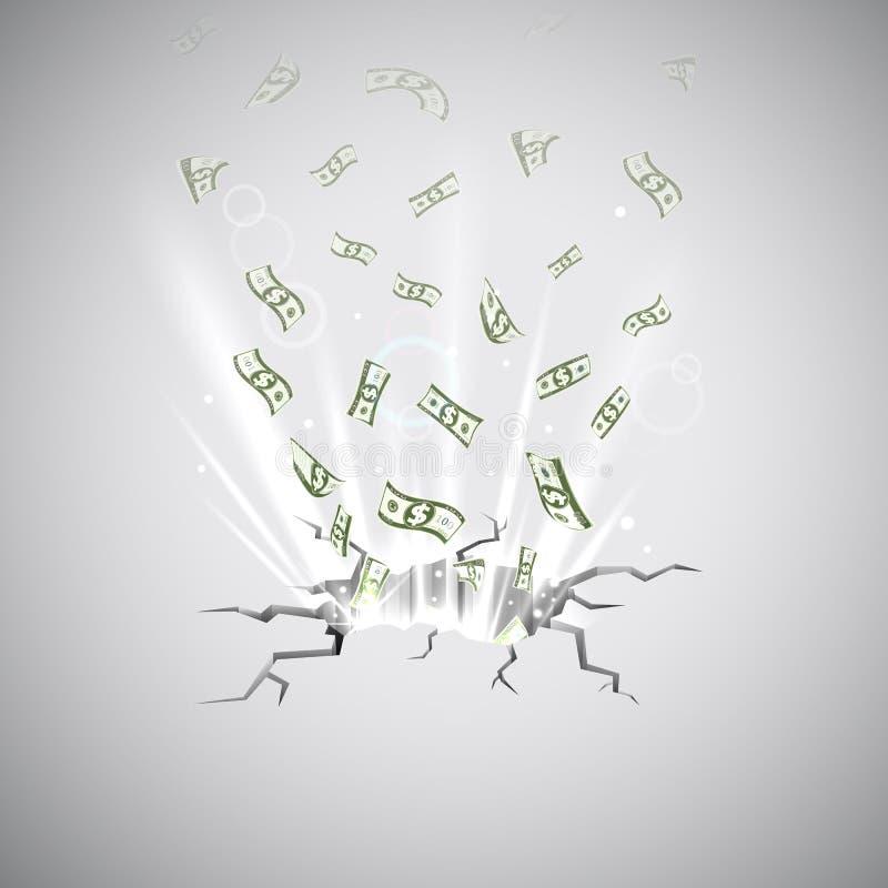 Souffle du dollar illustration de vecteur