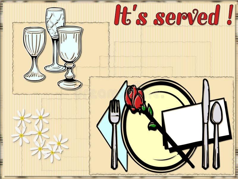 Illustration de nourriture illustration stock