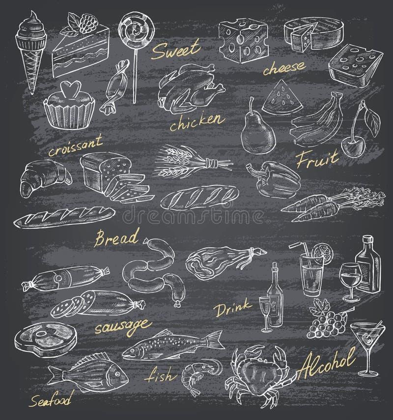Illustration de nourriture illustration de vecteur