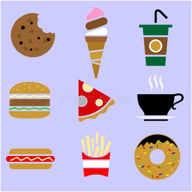 Illustration de nourriture et de boissons illustration stock