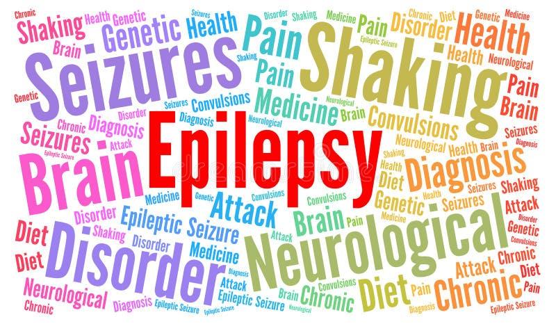 Illustration de nuage de mot d'épilepsie illustration libre de droits