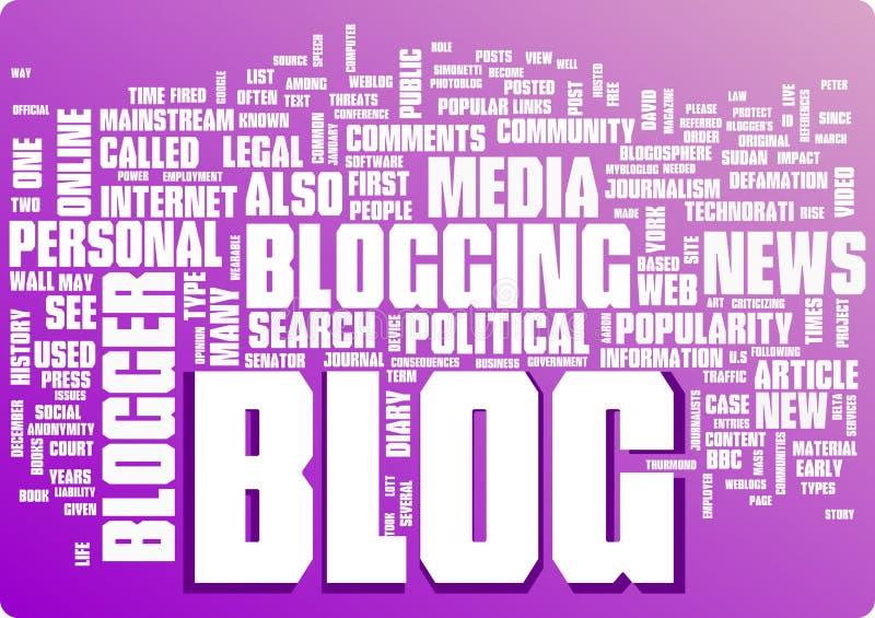 Illustration de nuage de mot de blog Collection graphique d'étiquette illustration de vecteur