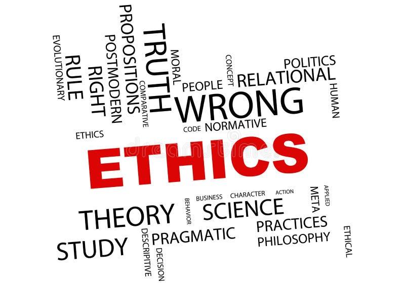 Illustration de nuage de mot d'éthique illustration de vecteur