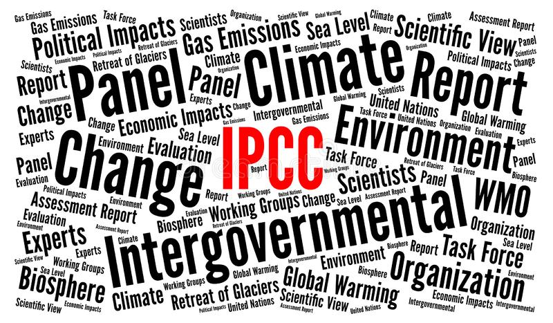 Illustration de nuage de mot d'IPCC illustration stock