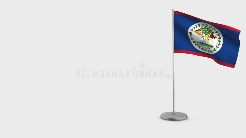 Illustration de ondulation de drapeau de Belize 3D illustration de vecteur