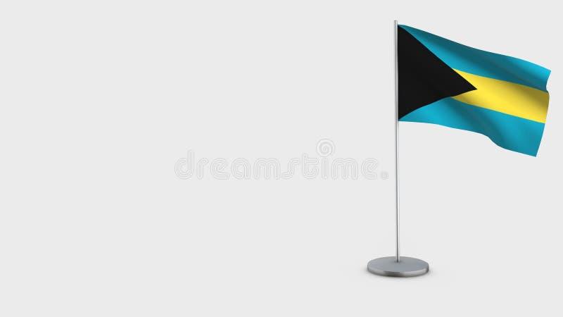 Illustration de ondulation de drapeau des Bahamas 3D illustration de vecteur
