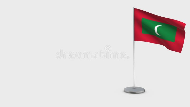Illustration de ondulation de drapeau des Maldives 3D illustration de vecteur