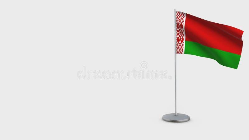 Illustration de ondulation de drapeau du Belarus 3D illustration de vecteur