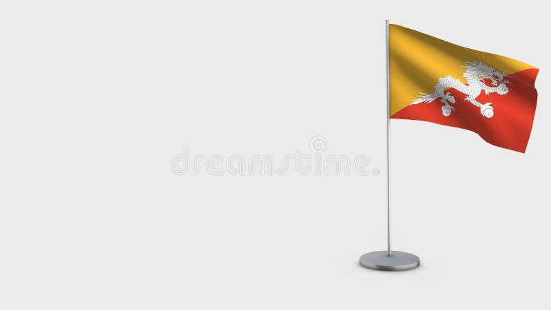 Illustration de ondulation de drapeau du Bhutan 3D illustration de vecteur