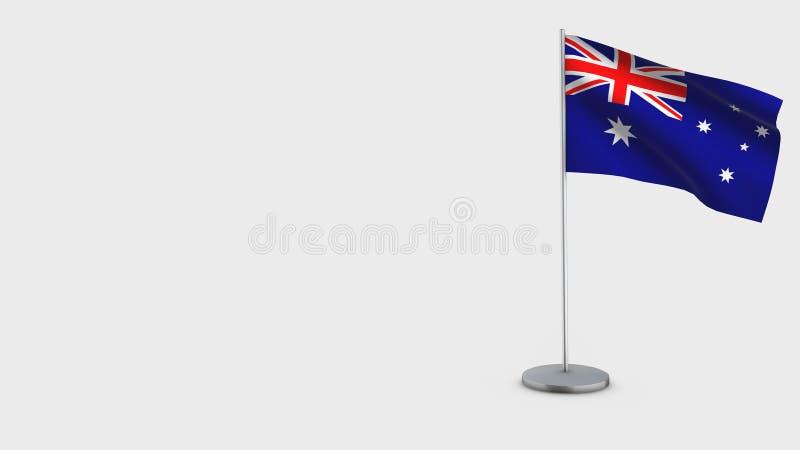 Illustration de ondulation de drapeau de l'Australie 3D illustration stock