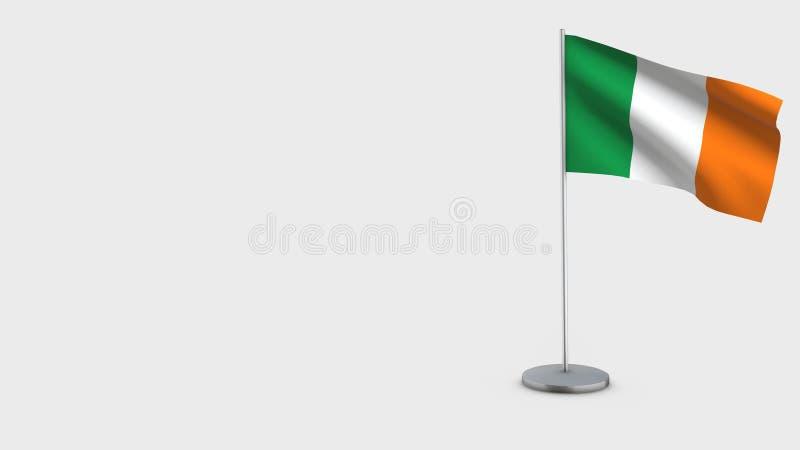 Illustration de ondulation de drapeau de l'Irlande 3D illustration de vecteur