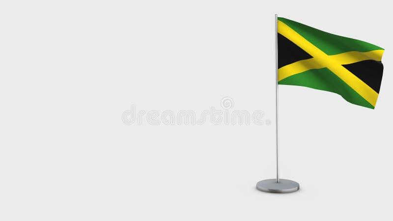 Illustration de ondulation de drapeau de la Jamaïque 3D illustration libre de droits