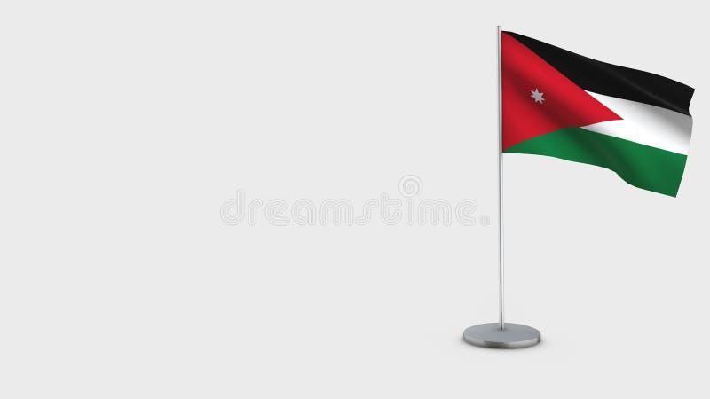 Illustration de ondulation de drapeau de la Jordanie 3D illustration stock
