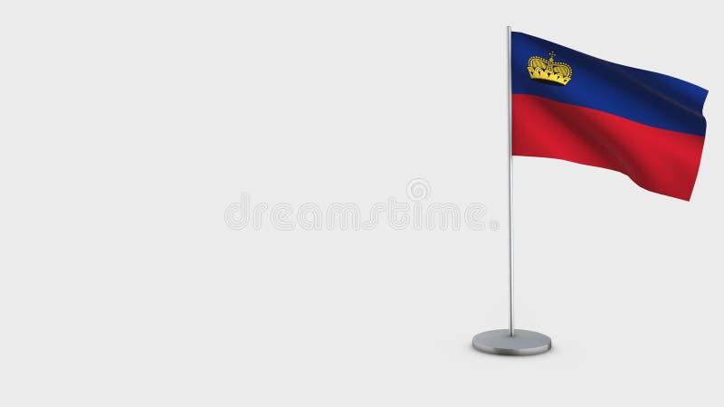 Illustration de ondulation de drapeau de la Liechtenstein 3D illustration libre de droits