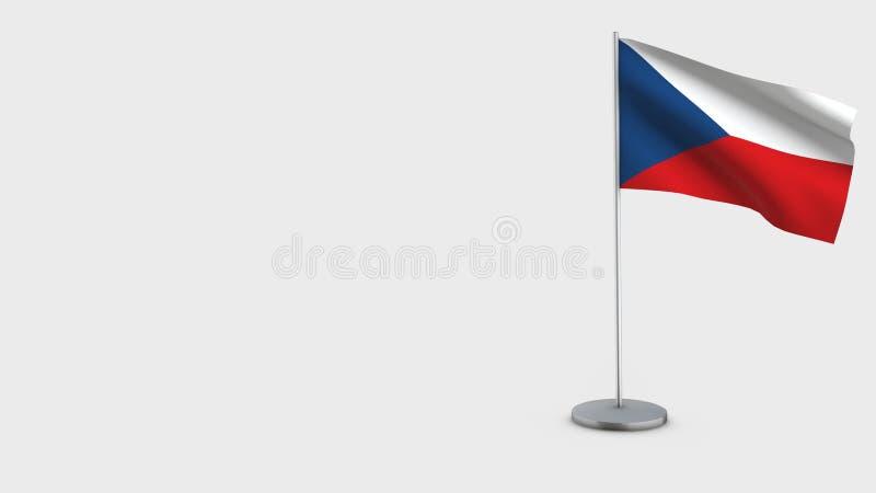 Illustration de ondulation de drapeau de la République Tchèque 3D illustration de vecteur