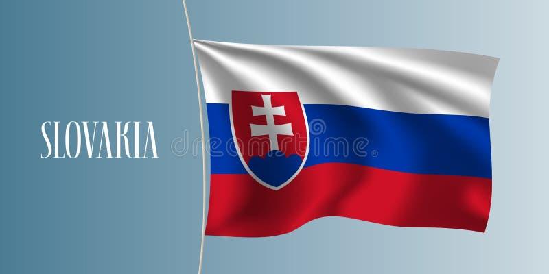 Illustration de ondulation de vecteur de drapeau de la Slovaquie illustration de vecteur