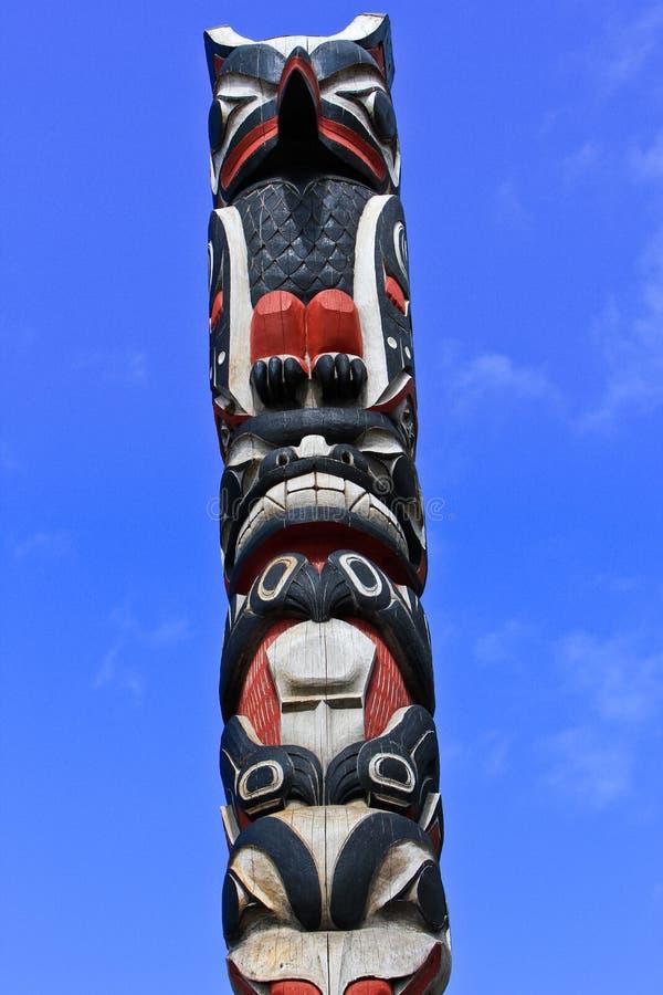 Illustration de Pôle de totem de Tlingit de l'Alaska Huna photographie stock libre de droits